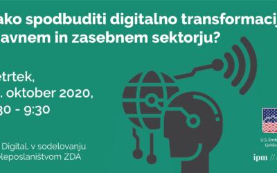 Panelna diskusija: Digitalna transformacija v javnem in zasebnem sektorju