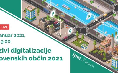 Okrogla miza: Izzivi digitalizacije slovenskih občin 2021